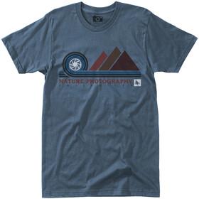 Hippy Tree Aperture Camiseta Hombre, steel blue